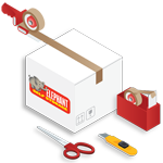 Elephant.ie Web Icons Packing Supplies