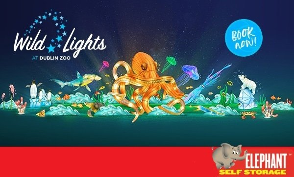 WIN 2 Adults & 2 Children Tickets To Wild Lights at Dublin Zoo with Elephant Self Storage