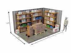 150 Sqft - Two Luton Vans or 20ft Container Size